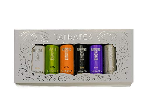 TATRATEA Mini Geschenkset 6 x 0,04l (1 Pack) mit den Sorten: Outlaw 72, Forest Fruit 62, Original 52, Peach 42, Citrus 32, Coconut 22