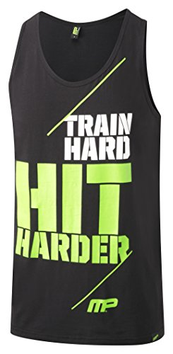 Musclepharm MPVST438 MUSCLE PHARM PRINTED VEST BLACK LARGE - Hombres Graphic 438 Vest - Negro, Grande