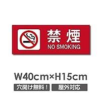 禁煙 喫煙禁止 敷地内全面禁煙 喫煙OK 院内禁煙 完全分煙 プレート「 禁煙 」 喫煙 看板 w40cm*h15cm NON-103