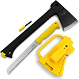 Yes4All MH-H307 Multi Functional Camping Axe H307 with Saw + Fire Starter - Ã'²BAAVZ, Black, 15.75 x 9.25 x 1.25 inches