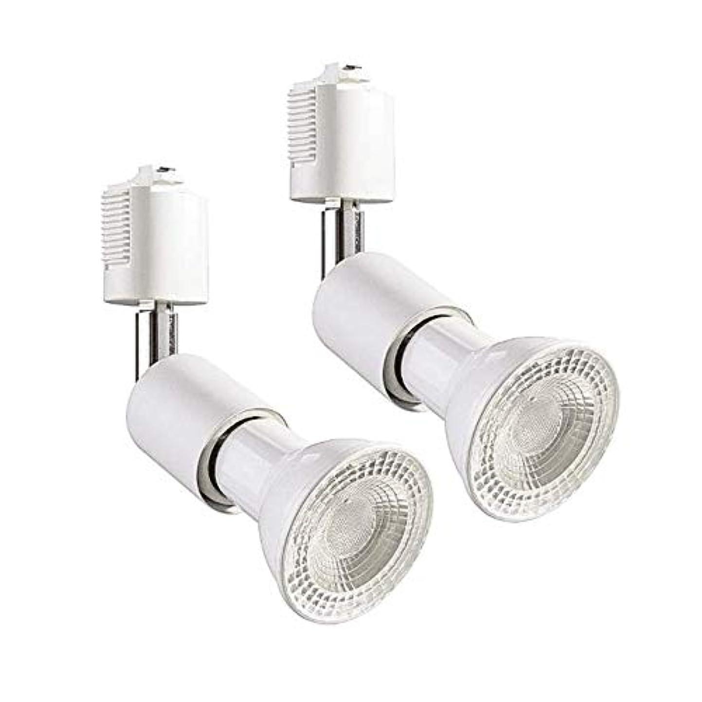 タバコ多様性人差し指ライティングバー用スポットライト e26 電球付き 電球色 LEDスポットライト ライティングレール ライト PAR20 レフ球型 ランプ付 LED電球+器具セット 2個セット (電球色)
