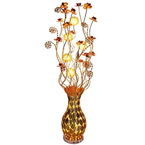 MYSR Stehlampe Wohnzimmer, Kreative Blütenform Moderne Stehleuchte Wohnzimmer Schlafzimmer Dekoration Aluminium Stehleuchte Augenschutz Vertikale Tischlampe (Color : H150cm/Ø23cm)