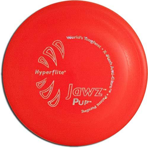 Hyperflite Jawz Frisbee pour petit chien résistant aux mordillements Rouge mangue