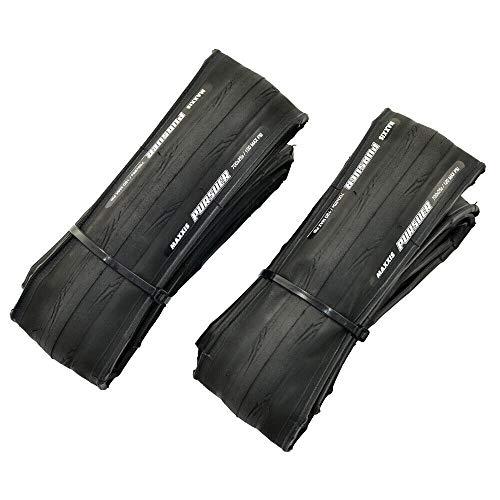 MAXXIS PURSUER M225 700x25C Tire Road Racing Clincher Folding Tire 60TPI 120PSI, Black, 2 Tire, MX2217