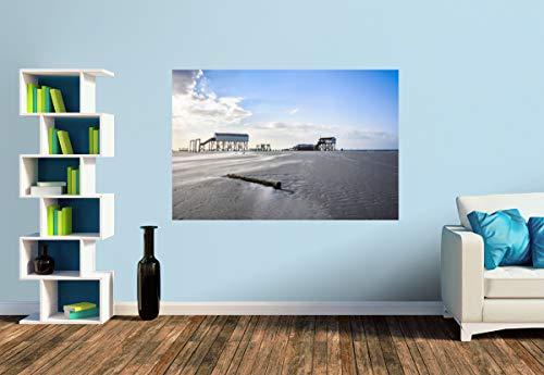 Premium Foto-Tapete Sankt Peter Ording (versch. Größen) (Size S   186 x 124 cm) Design-Tapete, Wand-Tapete, Wand-Dekoration, Photo-Tapete, Markenqualität von ERFURT