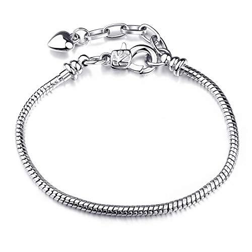WWWL Armschmuck Hohe Qualität authentische Silber Farbe Schlange Kette feines Armband Passen europäische Charm Armband für Frauen DIY Schmuck Machen Ostergeschenk