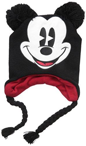 Disney Big Boys Mickey Mouse Laplander Cold Weather Hat, Black, Age 8-18