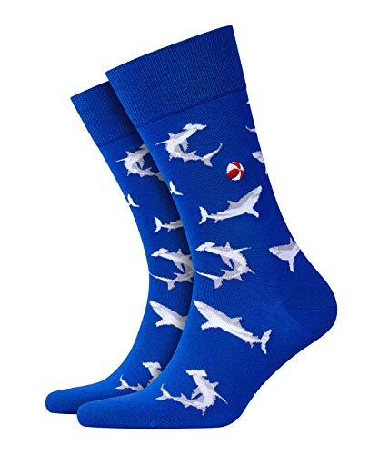 BURLINGTON Herren Socken Sharky - Baumwollmischung, 1 Paar, Blau (Cobalt 6712), Größe: 40-46