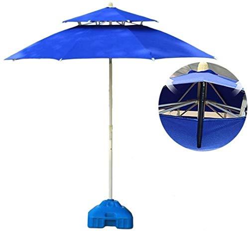 Paraguas al aire libre Paraguas Parasol Garden 7,5 pies / 9 pies Doble Patio superior de Convergencia, al aire libre Parasol for la playa / piscina / jardín Paraguas Ronda de protección solar (Color: