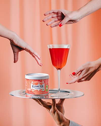 KUSMI TEA クスミティー アクアサマー 100g缶 オーガニック 有機JAS認証 ハーブティー フルーツティー 正規輸入品