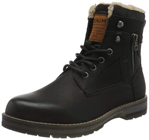 Tom Tailor Mens 9085505 Mid Calf Boot Bootie Boot, Black, 10 UK