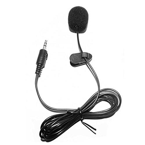 Docooler Lavalier-microfoon externe clip-on 3,5 mm jack voor telefoon-handsfree bedrade condenser microfoon voor teaching speeching zwart