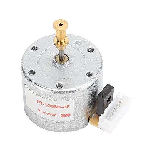 ASHATA Motor de giradiscos, Motor de giradiscos DC 12V de 3 velocidades con grabadora de Discos de Vinilo, con Orificio de Montaje de 25 mm y Velocidad de rotación de 78 RPM, Resistente y Duradero