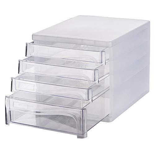 LiChaoWen Mini-kantooraccessoires, voor desktop-accessoires, archiefkast, opbergdoos, verzamelaars, meerlaagse opslag, gemakkelijk te maken