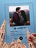 SAQUITOMAGICO Spotify.-Placa de Metacrilato Personalizada con Foto y cancion escaneable.Impresion Digital UVI (Solo Placa)