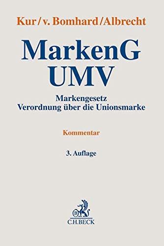MarkenG - UMV: Markengesetz, Verordnung über die Unionsmarke