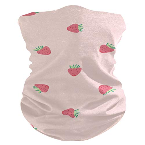 Damen-Gesichtsmaske aus Stoff, multifunktional, Bandanas, Schnittmuster, Unisex, Mini-Erdbeer-Stoffmaske, Muster, bedruckbar, für Herren und Damen, Outdoor, Kopfbedeckung, Kopftuch, Waschbar, Innentasche
