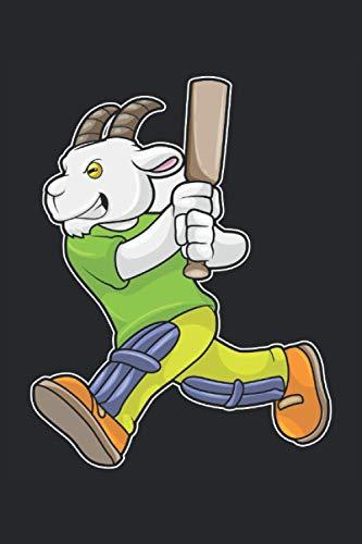 Cricketspieler Notizbuch, 120 Seiten: Ziege - Geschenke - Cricketspieler Notizbuch - Tagebuch für Frauen, Männer und Kinder - 6x9 Zoll (Ähnlich DIN A5) - Kariert