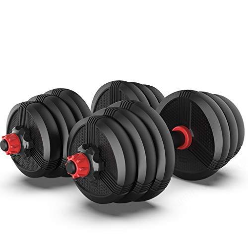 PIAOLING Dumbbell Fitness Un Paio di manubri for Gli Uomini bilanciere Combinazione impostata Regolabile Peso Piccoli Attrezzi for Palestra di casa Combinazione di Manubri (Dimensione : 10kg)