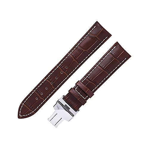 Correa de reloj de bolsillo de cuarzo liso vintage compatible con Tissot DW Longines Seiko, 14/16/18/19/20/21/22 mm Correa de reloj para mujeres y hombres, accesorios de pulsera de bolsillo W