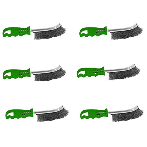 Proteco-Werkzeug® Set 6 tlg Handbürste Edelstahldraht V2A Drahtbürste Inox Handdrahtbürste Grillbürste
