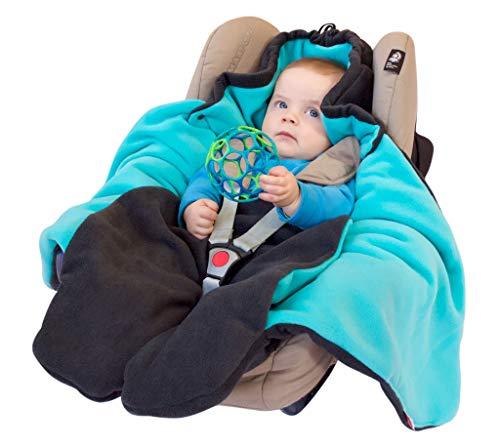 """ByBoom® – Baby Winter-Einschlagdecke """"Das Original mit dem Bären"""", Universal für Babyschale, Autositz, z.B. für Maxi-Cosi, Römer, für Kinderwagen, Buggy oder Babybett, Farbe:Anthrazit/Grau - 2"""