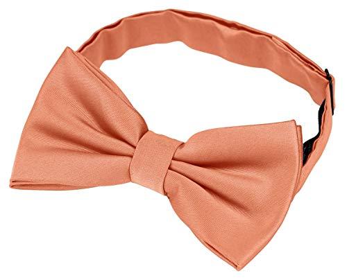 Helido Fliege für Herren, 12 verschiedenfarbige Schleifen/Fliegen passend zu Hemd und Anzug oder Smoking + Geschenkbox (Apricot)