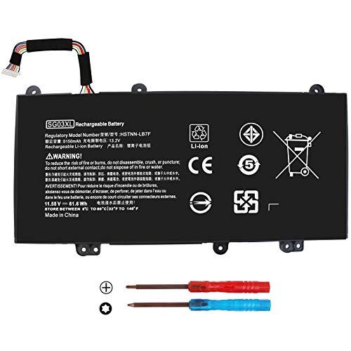 K KYUER 61.6WH SG03XL SGO3XL SG03061XL Laptop Battery for HP Envy 17-U M7-U 17-U275CL U177CL U273CL U163CL U175NR U153NR U110NR U108CA M7-U109DX U009DX 17T-U000 17T-U100 HSTNN-LB7F HSTNN-LB7E W2K88UA