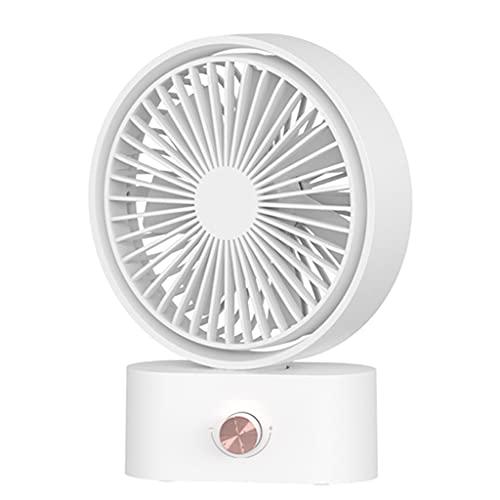 Ventilador de 2000 mAh recargable por USB, oscilación de 270 grados, ventilador silencioso, miniventilador portátil, para senderismo, deportes al aire libre, viajes, hogar