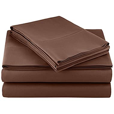 AmazonBasics Microfiber Sheet Set - Queen, Chocolate