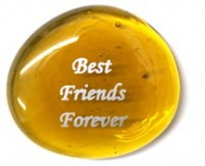 Consider Yourself Hugged Colored Glass Imprinted Love Stones