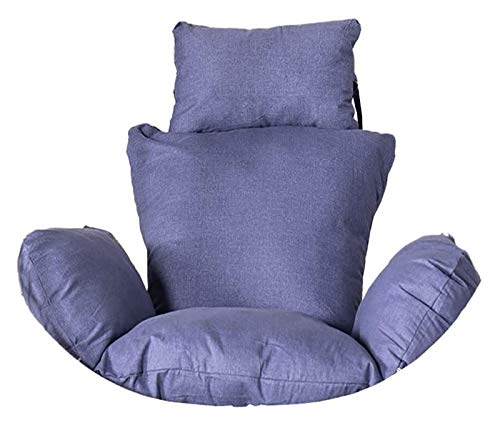 ZHZH Outdoor/Indoor Furniture Chair Cushion Egg Chair Seat Cushion, Wicker Rattan Hanging Egg Chair Pads, Soft Swing Chair Cushion Without Chair Indoor Balcony Pad Garden