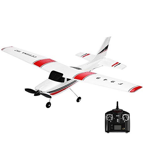 BRISEZZ Wltoys F949 2.4G 3CH Mini Fernbedienung RC Radio Flugzeug Drohne Flugzeug Mini Simulierte Flugzeugmodellmaschine (Weiß)