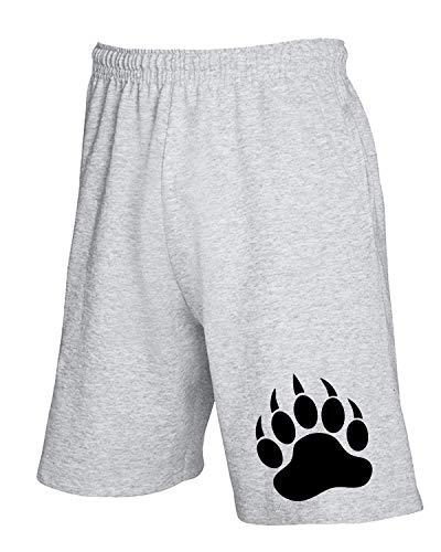 T-Shirtshock Jogginghose Shorts Grau TR0020 Bear PAW LBGT Gay Pride Rainbow Bear Scene