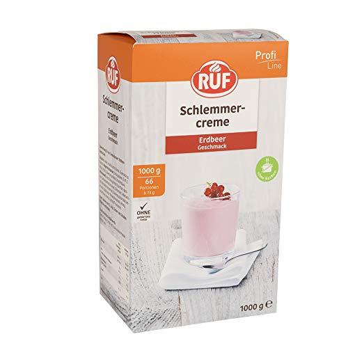 RUF Schlemmercreme Erdbeer Großpackung fertig in 3 Minuten, 1er Pack (1 x 1000g)