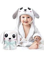 Kaome ręcznik dla niemowląt, z kapturem, ekologiczny, bambusowy, ręcznik kąpielowy, ręcznik z kapturem, dla niemowląt, duży, miękki i bardzo chłonny, nadający się do prania w pralce ręcznik kąpielowy z uroczymi uszami do kąpieli dla niemowląt