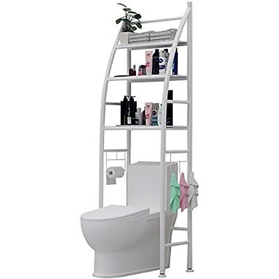 Sobre inodoro o lavadora, uso óptimo del espacio Solución de almacenamiento ideal para su cuarto de baño Estructura de acero estable y altura ajustable Dimensiones perfectas para ahorrar espacio