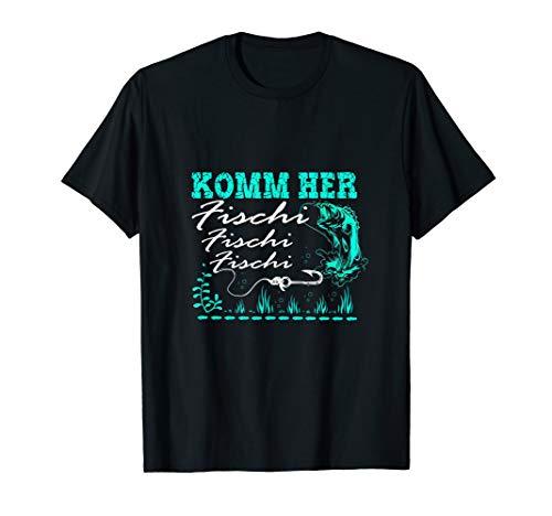 Lustige Angler sprüche Komm Her Fischi Fischi Geschenkidee T-Shirt