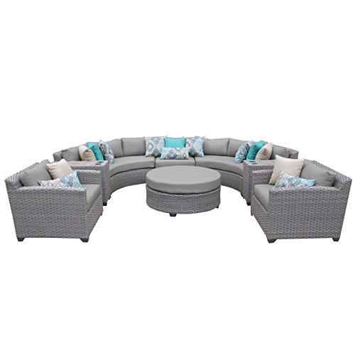 TK Classics FLORENCE-08e 8 Piece Outdoor Wicker Patio Furniture Set