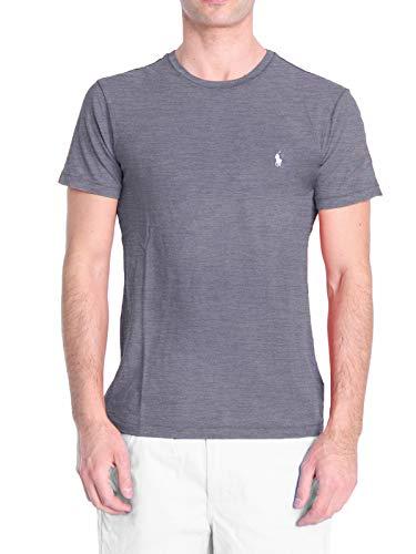 Ralph Lauren 710671438 T-shirt met ronde hals, voor heren, grijs