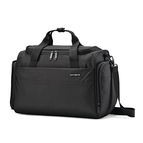 Samsonite Flexis Softside Expandable Luggage with Spinner Wheels, Jet Black, Travel Duffel