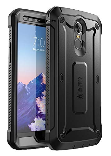 SUPCASE [Unicorn Beetle PRO Series] Full-Body Rugged Holster Case for LG Stylo 3, LG Stylo 3 Plus/LG LS777, with Built-in Screen Protector for LG Stylo 3 / LG Stylo 3 Plus - Retail Package (BLK)