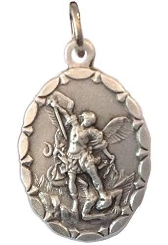 Medalla Oval de San Miguel Arcángel - Patrón de la Policía - 100% Made in Italy