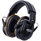 Hearing Protection Ear Muffs, Dr.meter 28dB Noise Reduction Safety Earmuffs with Adjustable Headband, Ear Defenders for DIY, Shooting, Mawing Lawn or Hunting, Storage Bag Included-Black