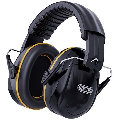 Auriculares antiruido, Dr.meter para reducción del ruido , SNR 34dB ,Plegables Defensores del Oído con Tecnología de Cancelación de ruido para Tiro,Estudio,Construcción
