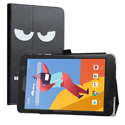 Labanema Funda para VANKYO MatrixPad S8, Slim Fit Carcasa de Cuero Sintético con Función de Soporte Folio Case para 8' VANKYO MatrixPad S8 / Dragon Touch Notepad Y80 Tablet - Don't Touch