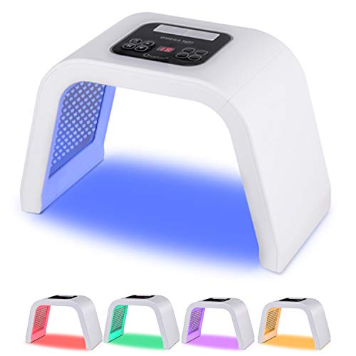 URYOUTH 7 Color LED Face Photon Mask Photon Light Skin Rejuvenation Therapy Facial Skin Care Machine (New Version)