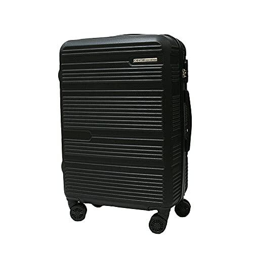 Set trolley abs rigido 3 pz valigie viaggio bagaglio a mano 8 ruote 80100 NERO Cm 70/60/50 Grande/Media/Piccola