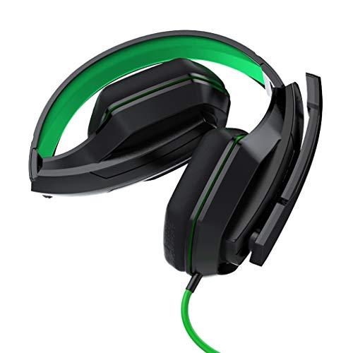 WYH Música Auriculares de Juego de Auriculares de 3,5 mm for PC sobre-Oído del Interruptor de Auriculares micrófono for NS for PS4 Juego de Auriculares Resistente al Sudor (Color : A)