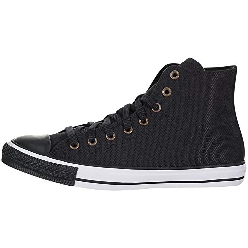 Converse Chuck Taylor All Star Ripstop High Top Sneaker, Black/White/Black, 9 M US